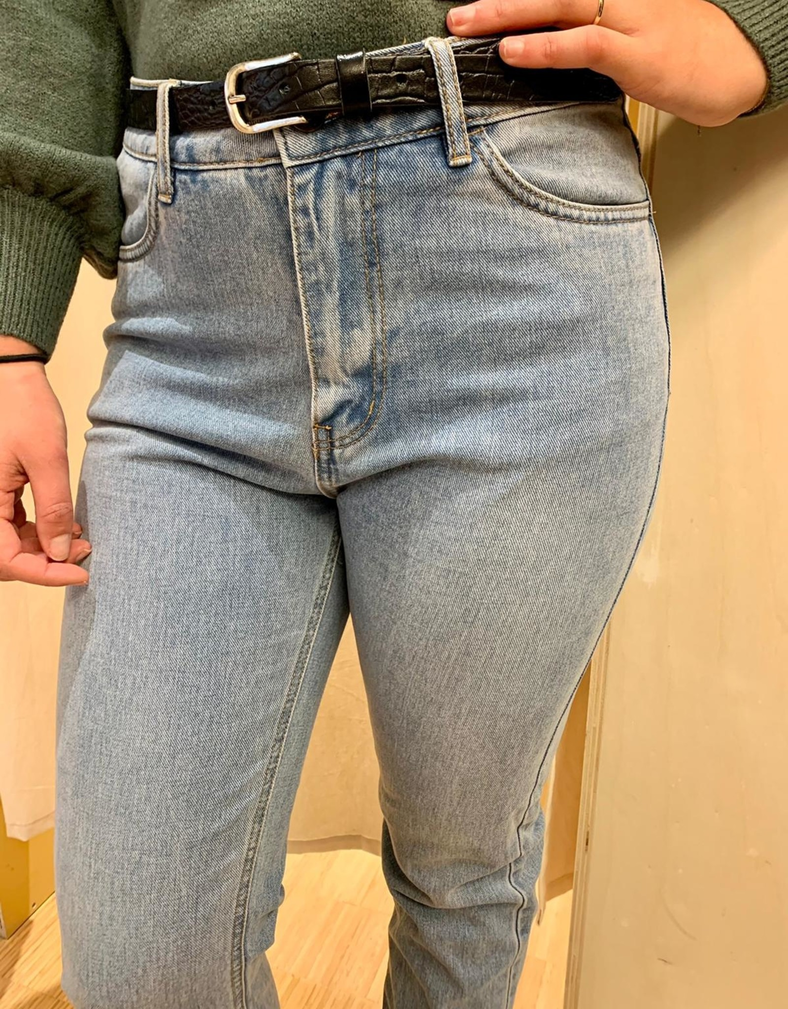 Ina Straight Jeans Light Blue