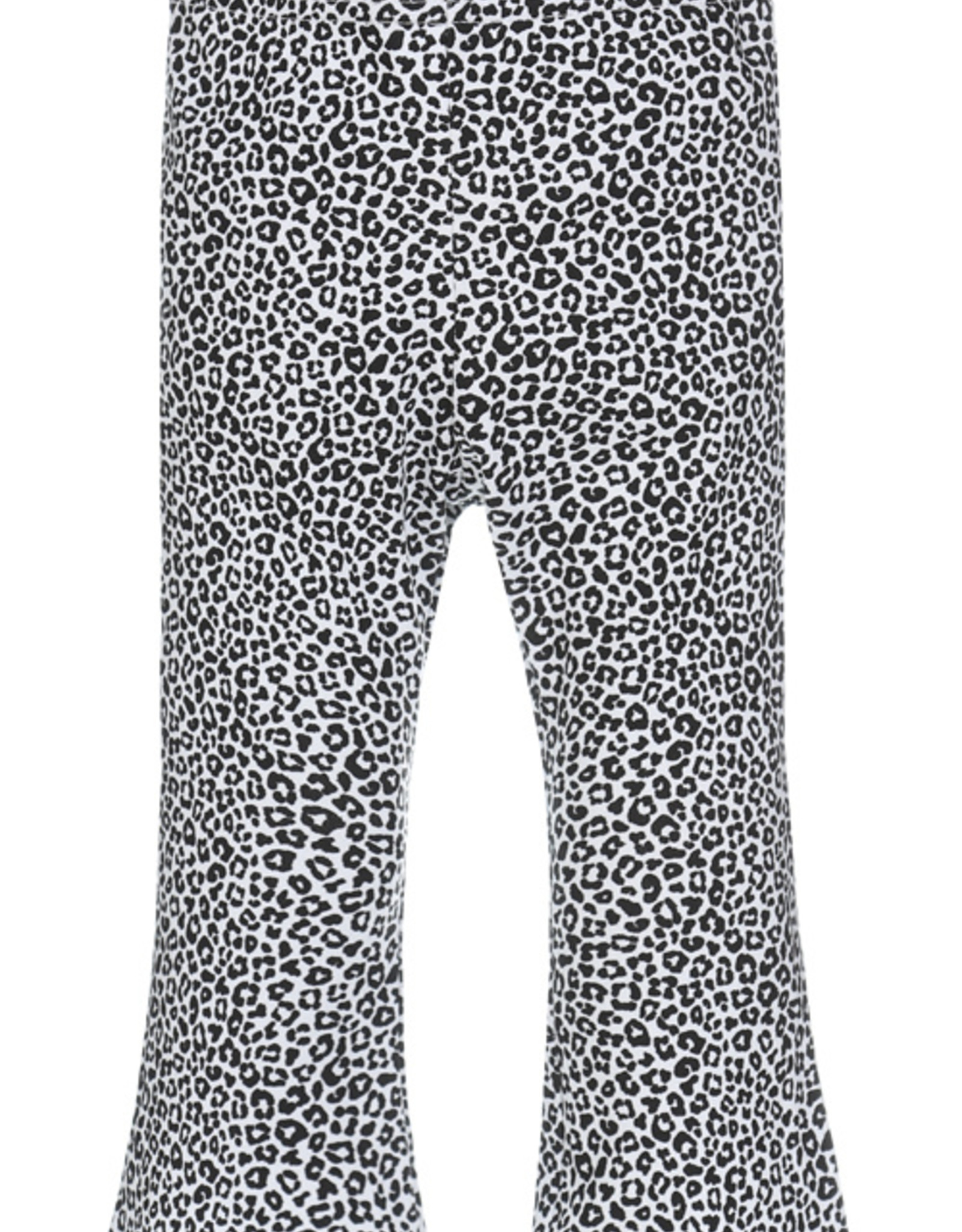 Flared pants luipaard wit