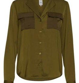 Ichi Ichi Groene blouse Satijn