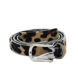 Leopard belt 2 cm silver