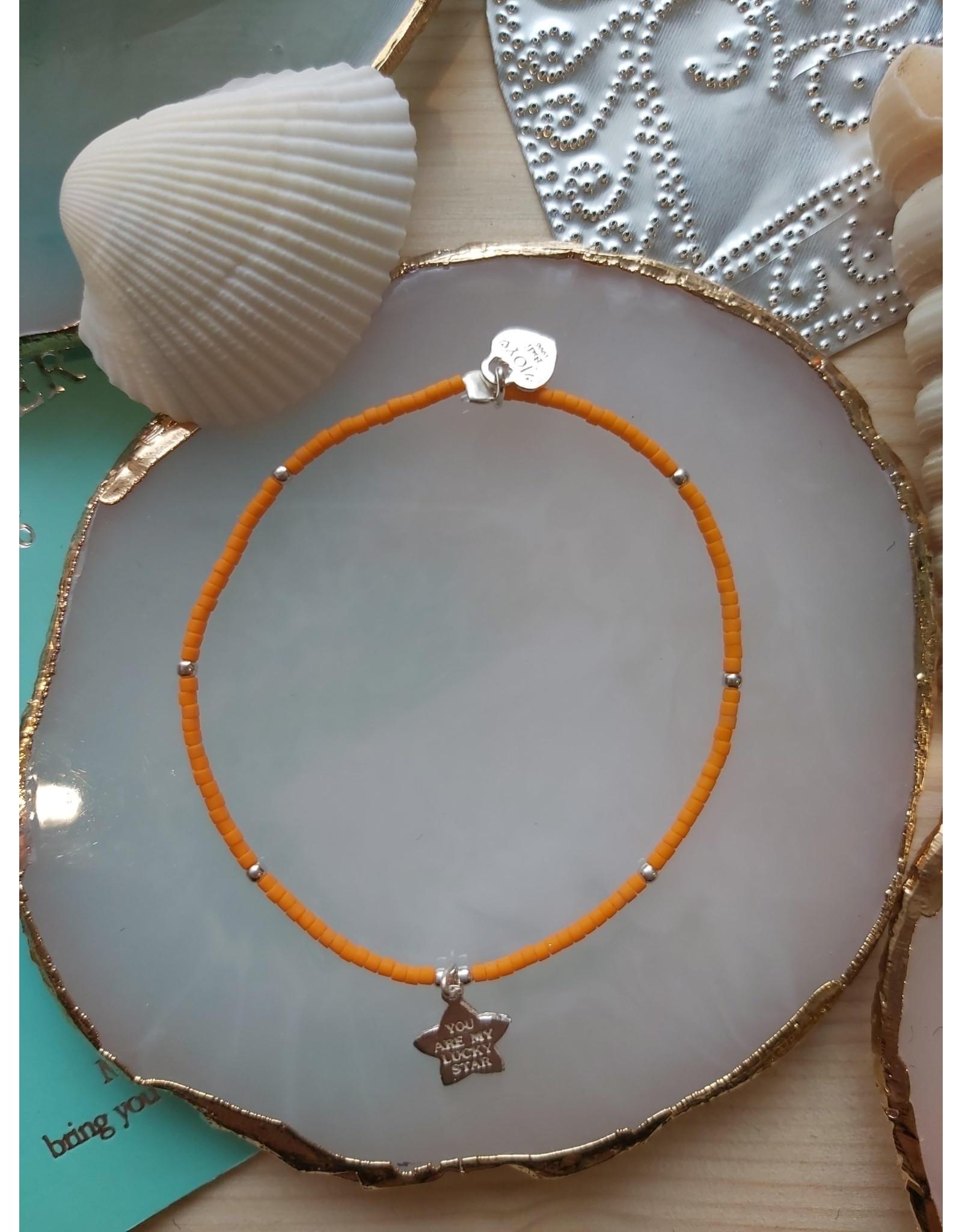 Joy Bali JOY Jamaica armband oranje lucky star