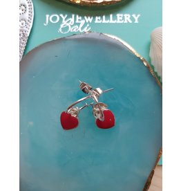 Joy Bali JOY Bonita oorbellen - Rood hartje