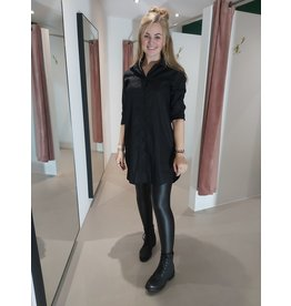 L'Avenue Lange blouse zwart
