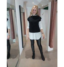 L'Avenue Lange blouse wit