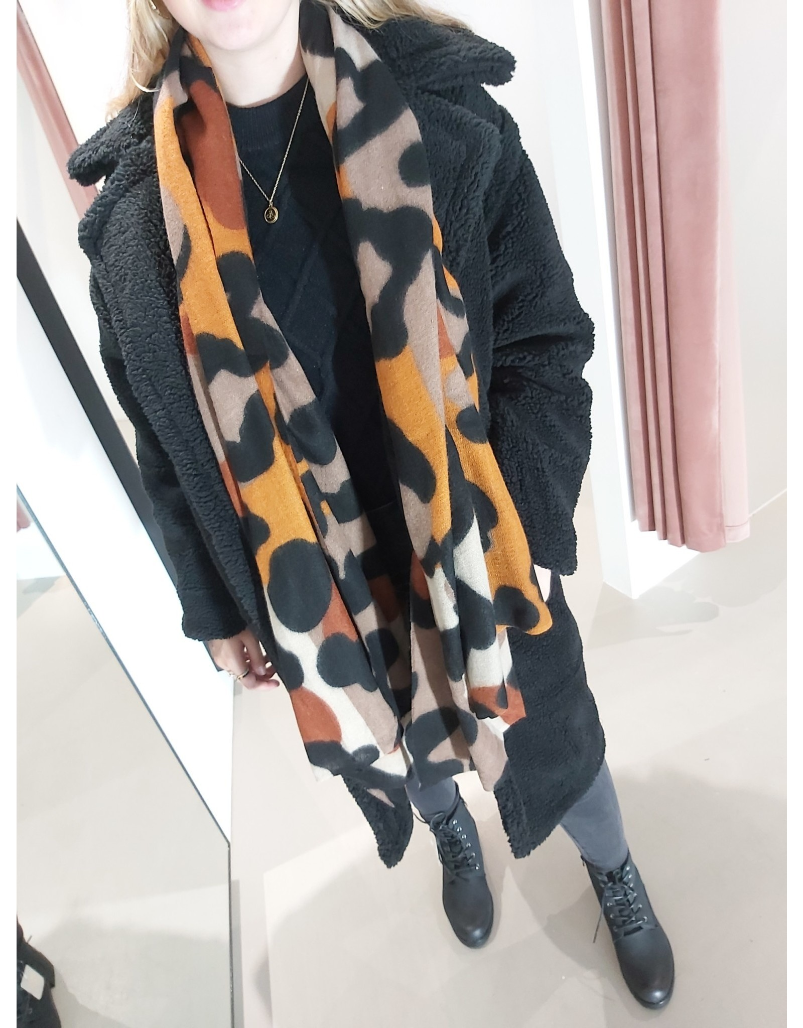 L'Avenue Sjaal Leopard bruin