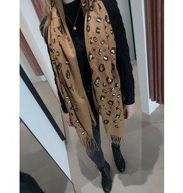 L'Avenue Sjaal leopard goud /beige