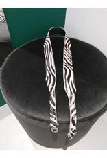 L'Avenue Tassenband zebra wit