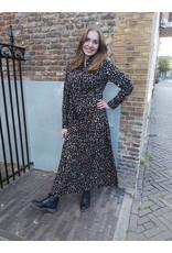 L'Avenue Blouse jurk- Leopard