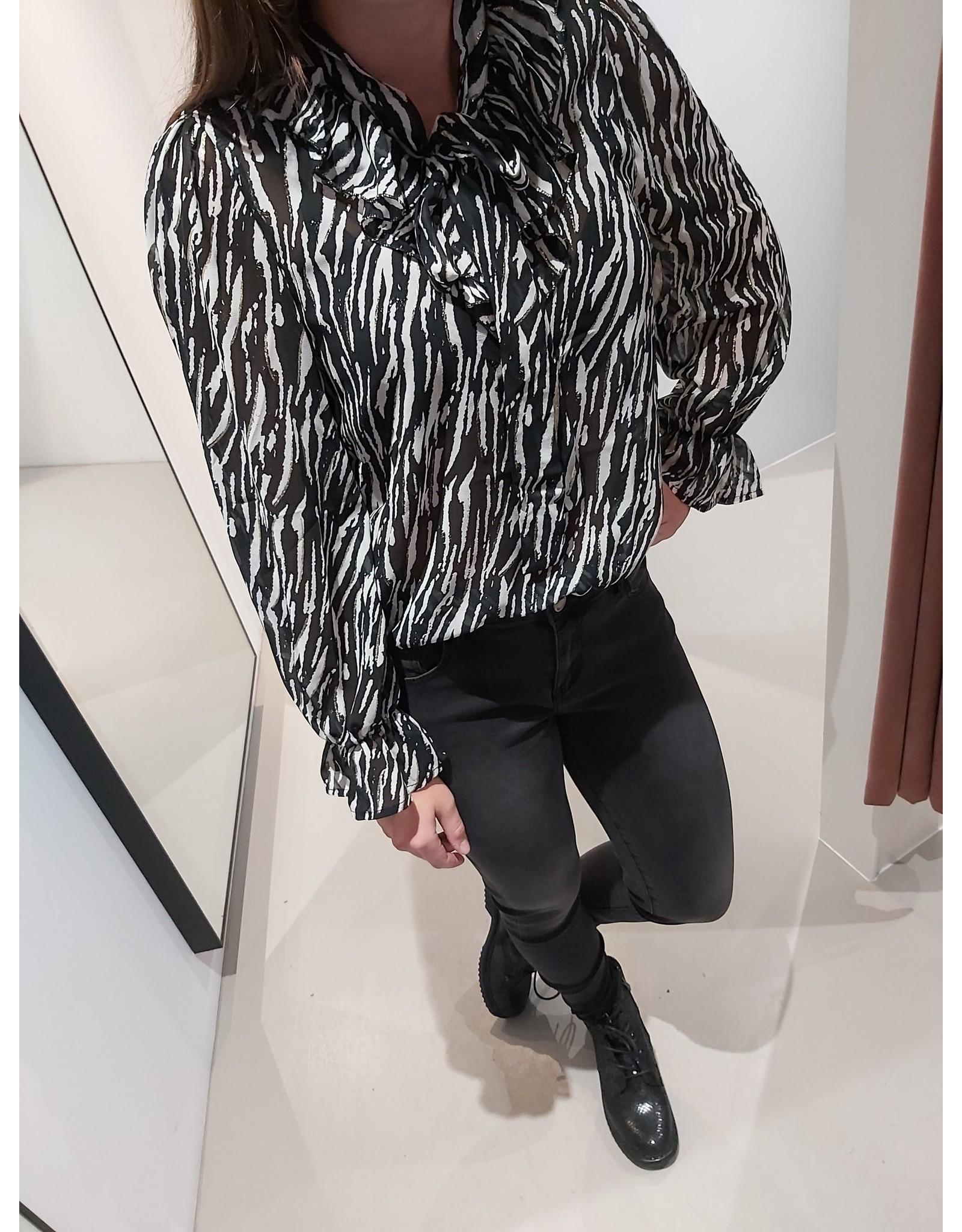 L'Avenue Zebra blouse