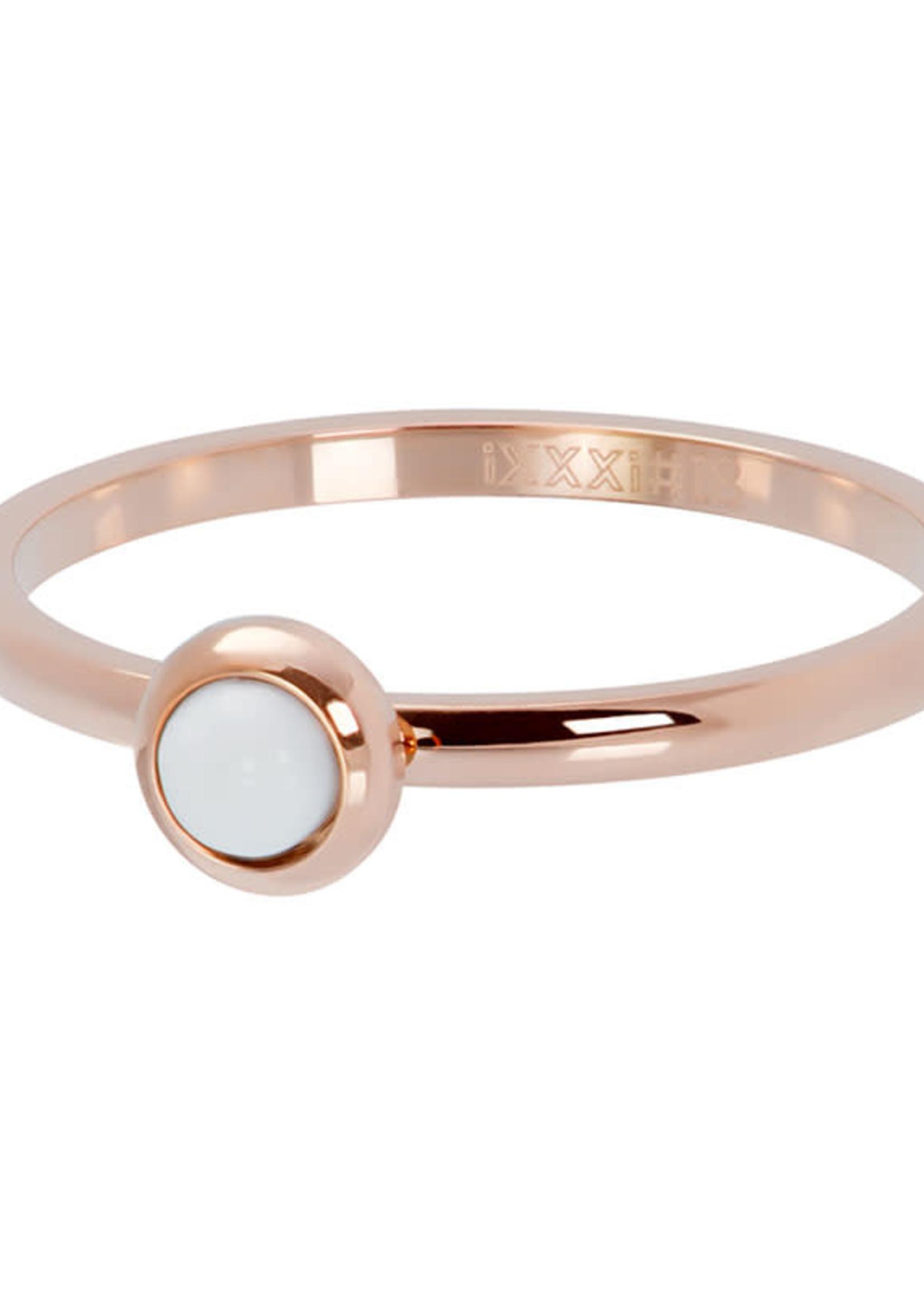 iXXXi ringen iXXXi Witte steen 2mm