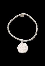 Joy Bali JOY Tiny Wish armband - i love you bedel