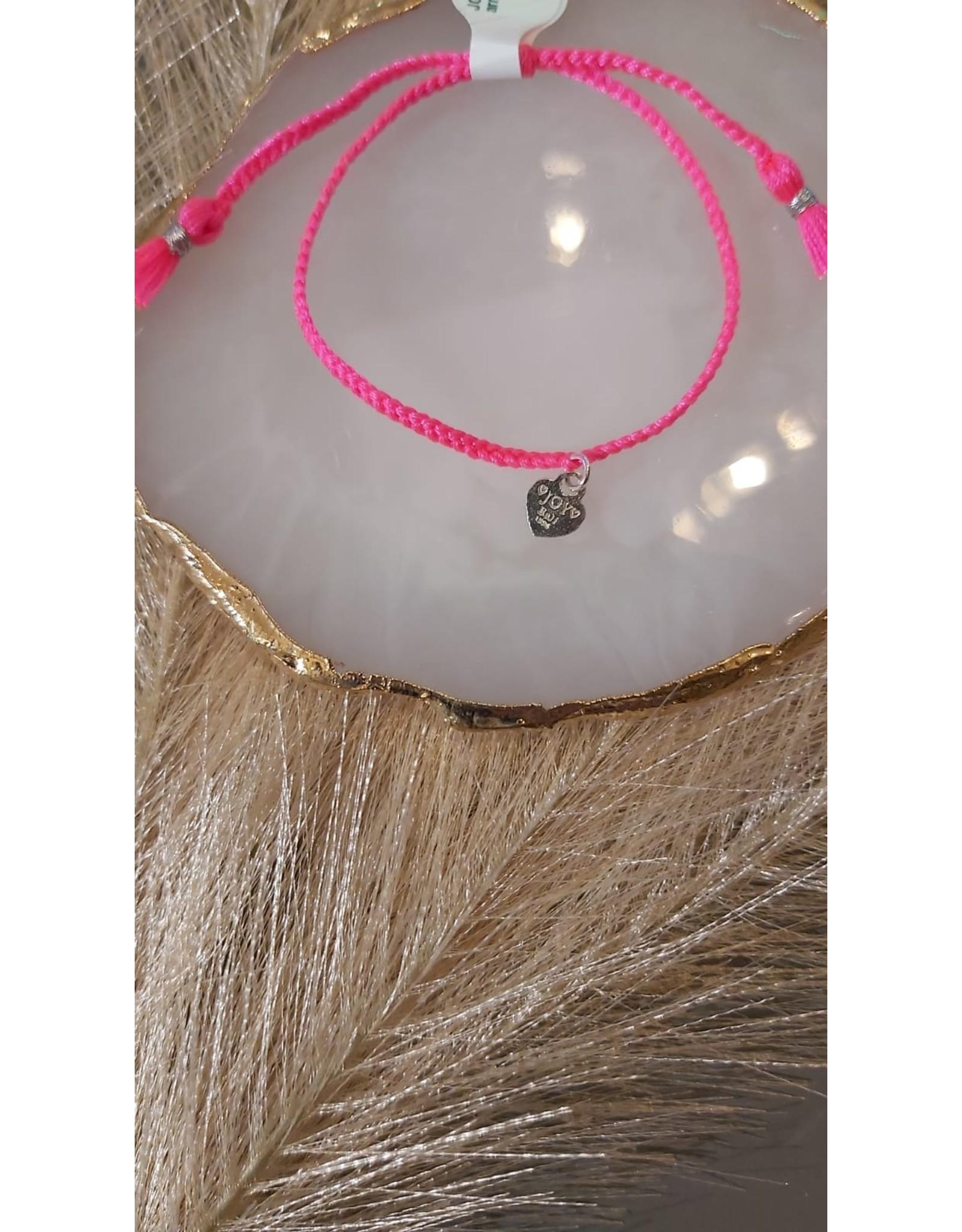 Joy Bali JOY Bali Iluh armband - fel roze