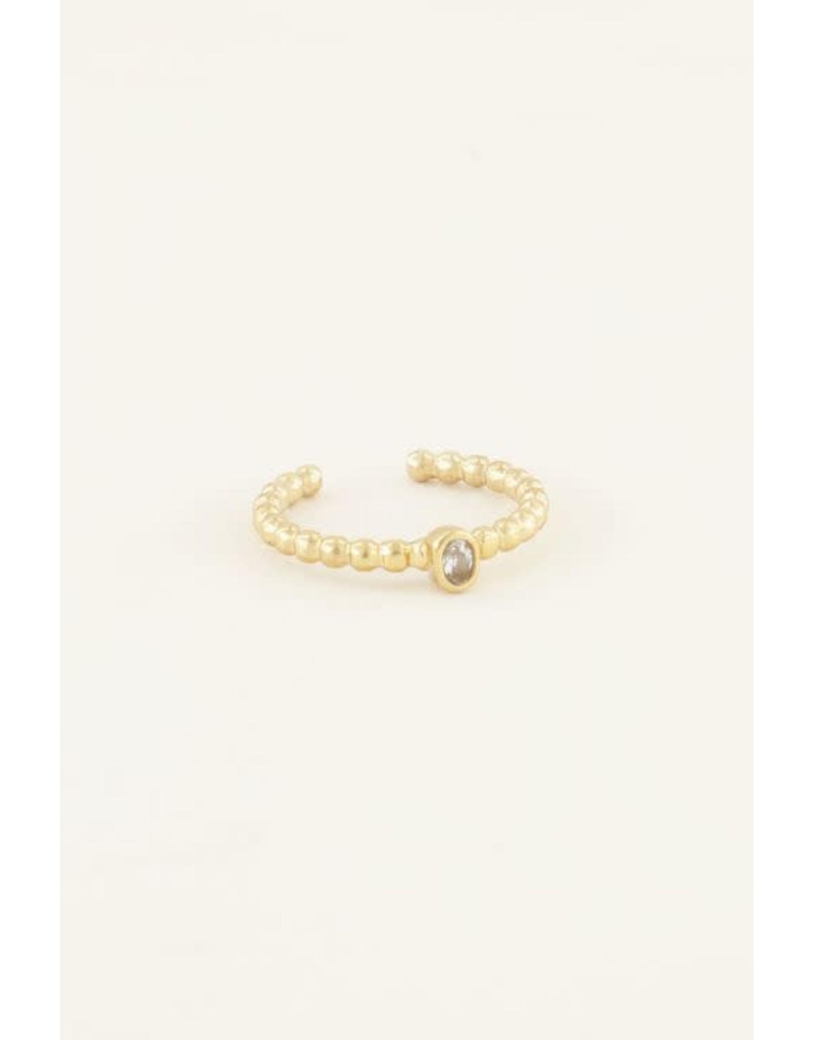 My Jewellery My Jewellery geboortesteen ring april goud