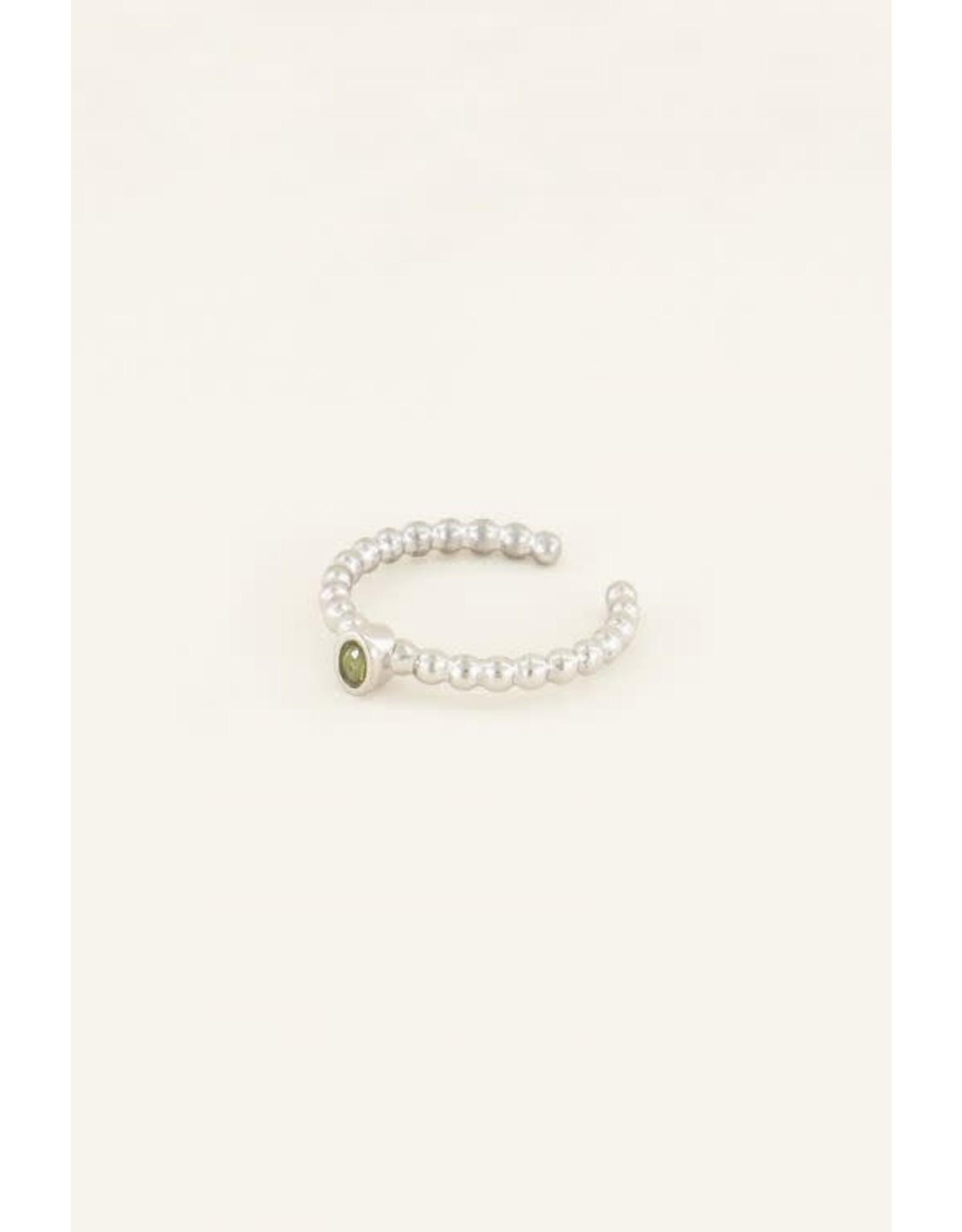 My Jewellery My Jewellery geboortesteen ring augustus zilver