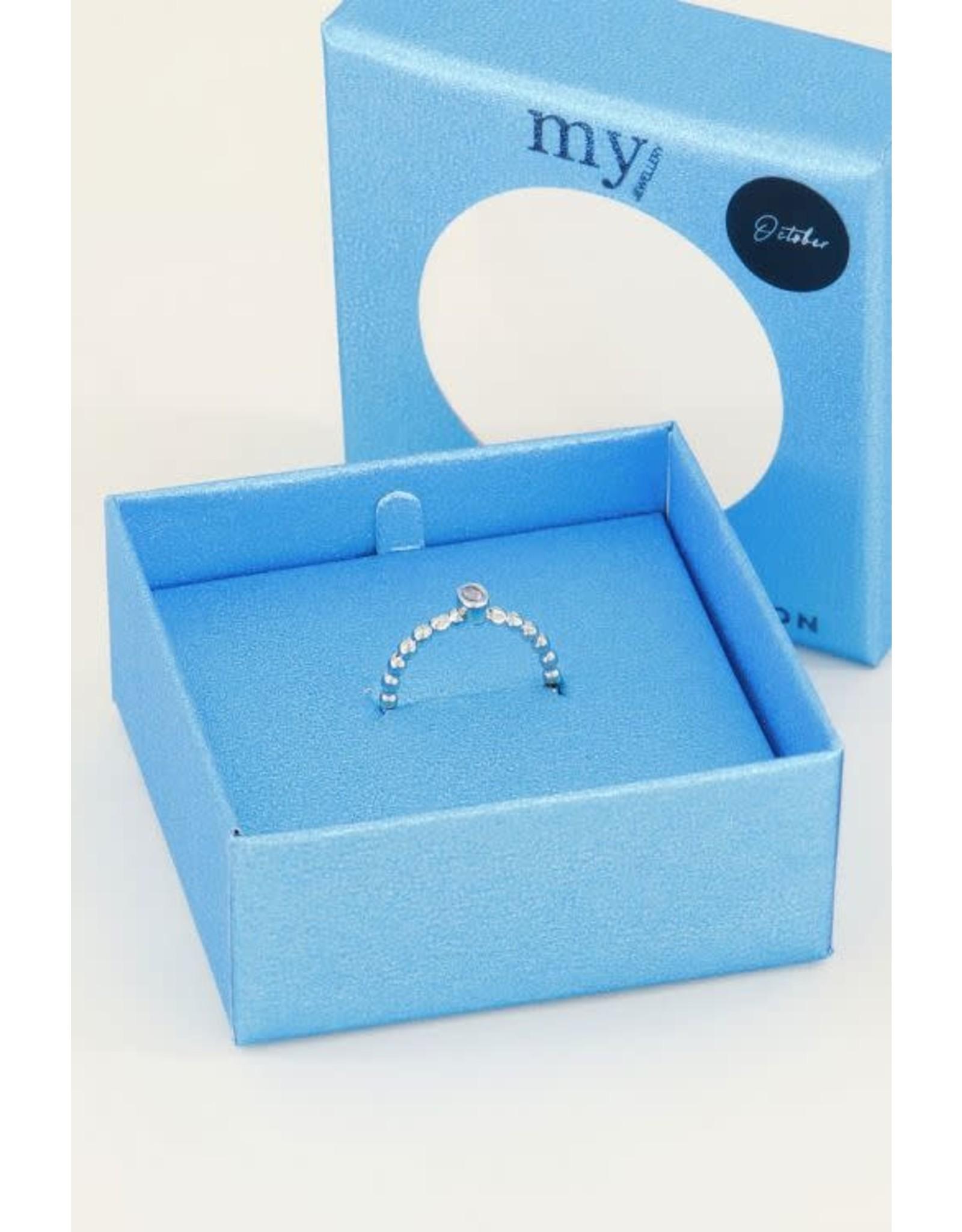 My Jewellery My Jewellery geboortesteen ring oktober goud