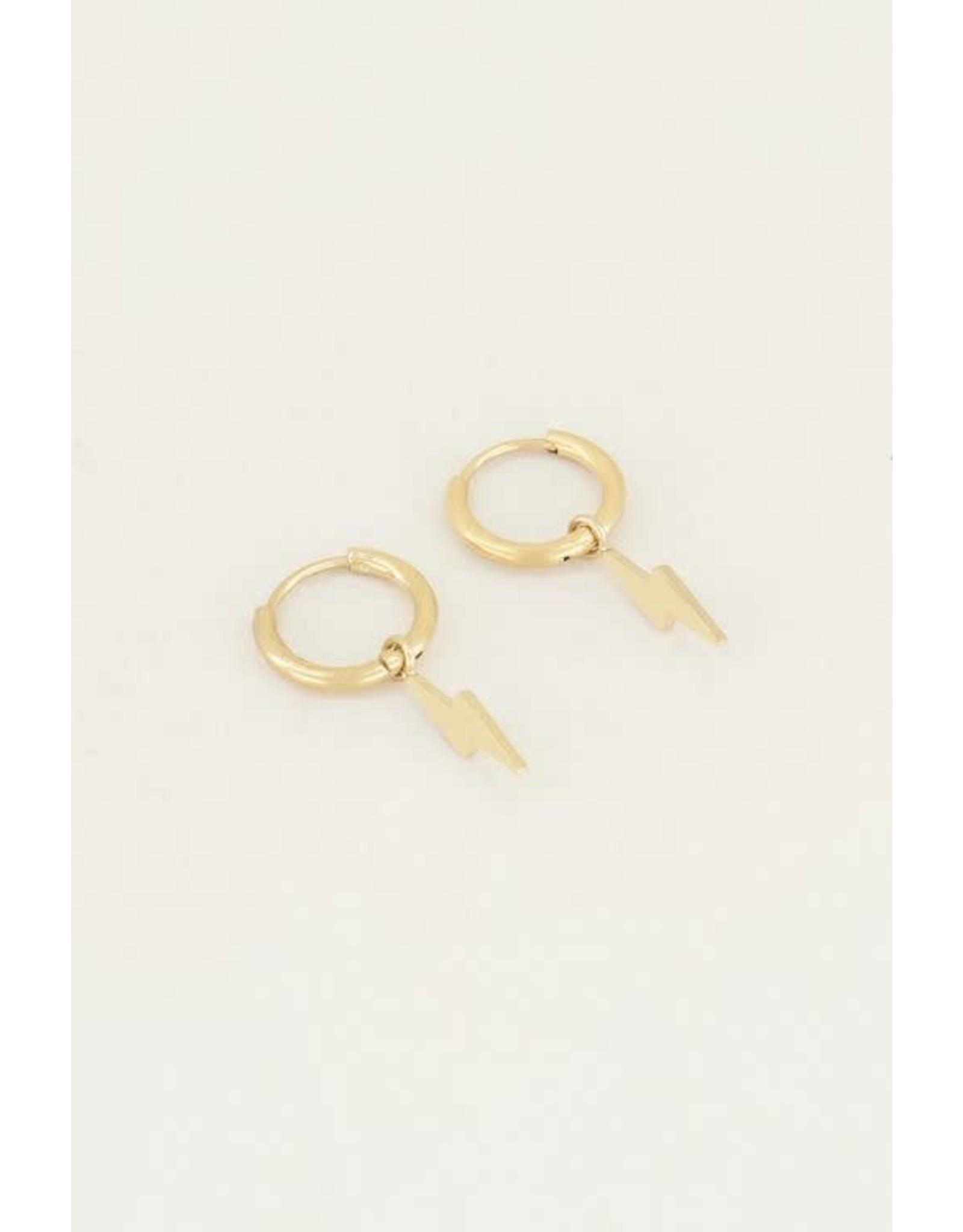My Jewellery My Jewellery oorring bliksem goud