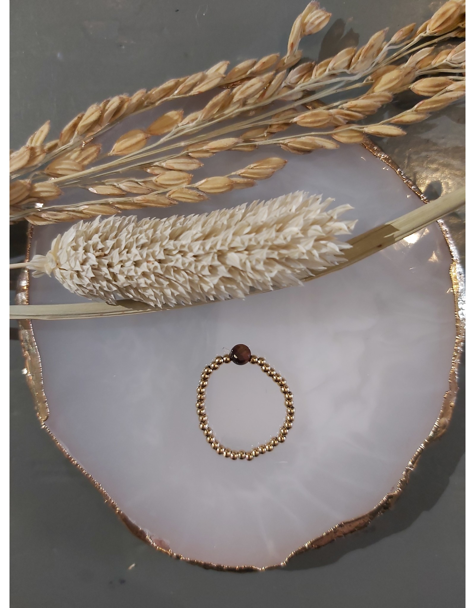 My Jewellery My Jewellery Ringen Elastiek - Bruin