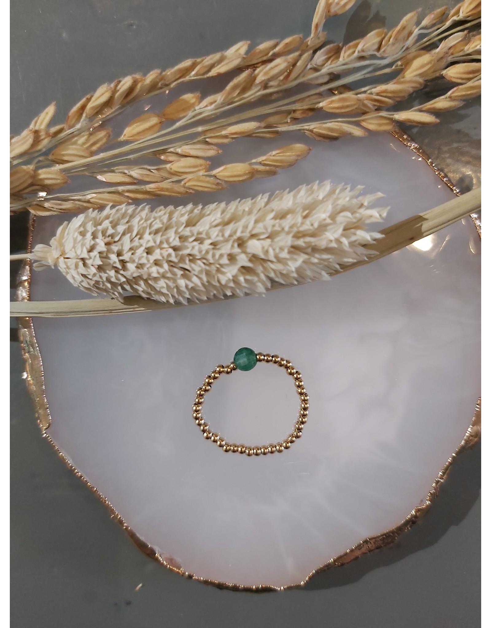 My Jewellery My Jewellery Ringen Elastiek - Groen