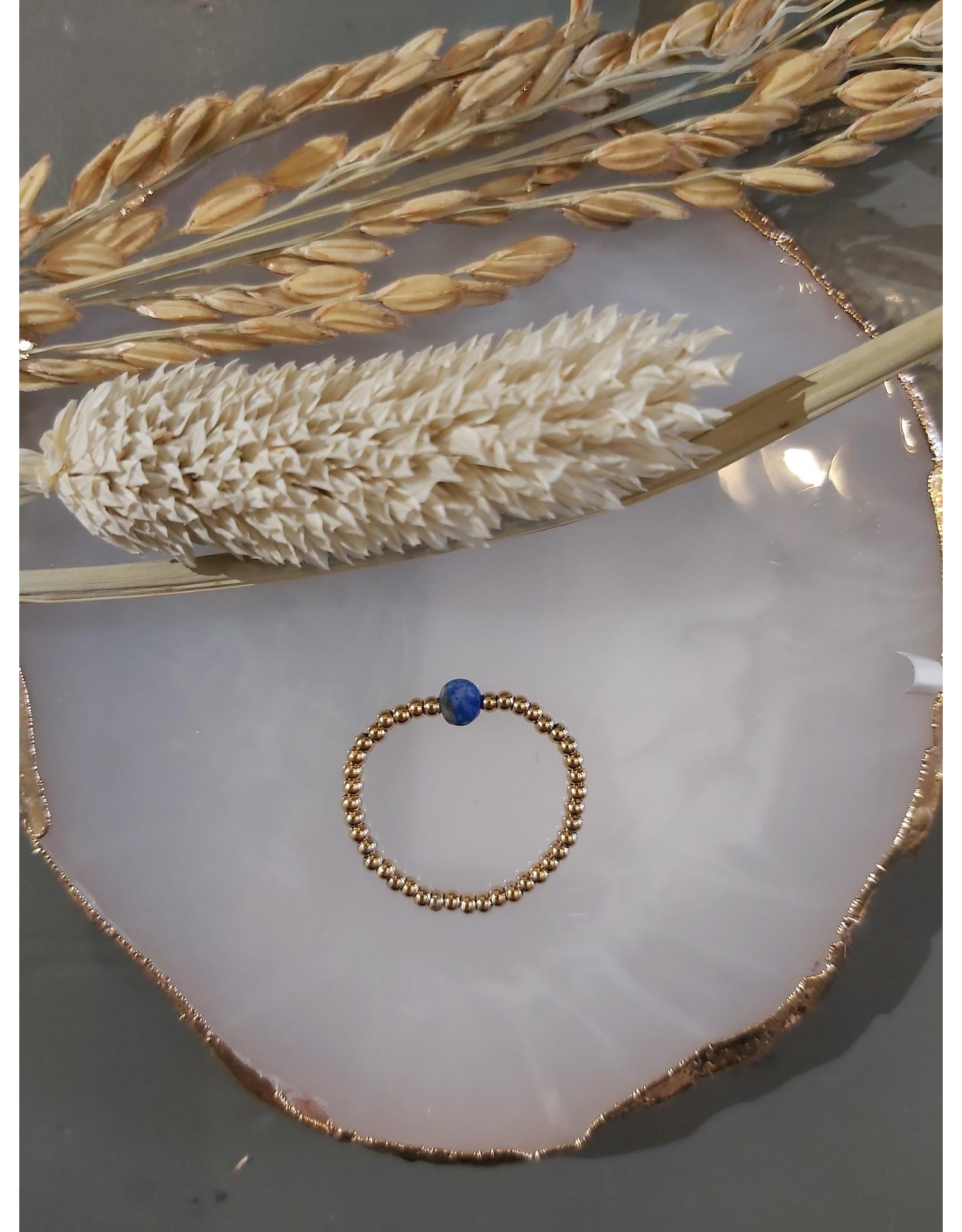 My Jewellery My Jewellery Ringen Elastiek - blauw