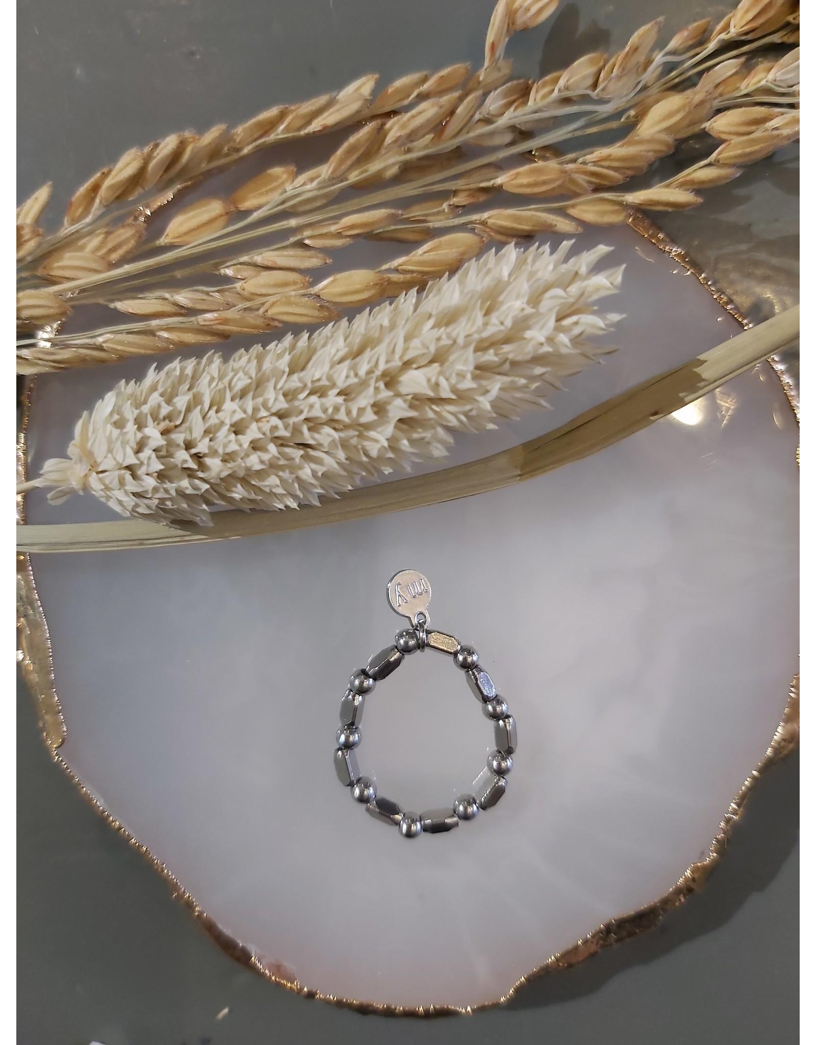 My Jewellery My Jewellery ringen Elastiek - Grove kraal