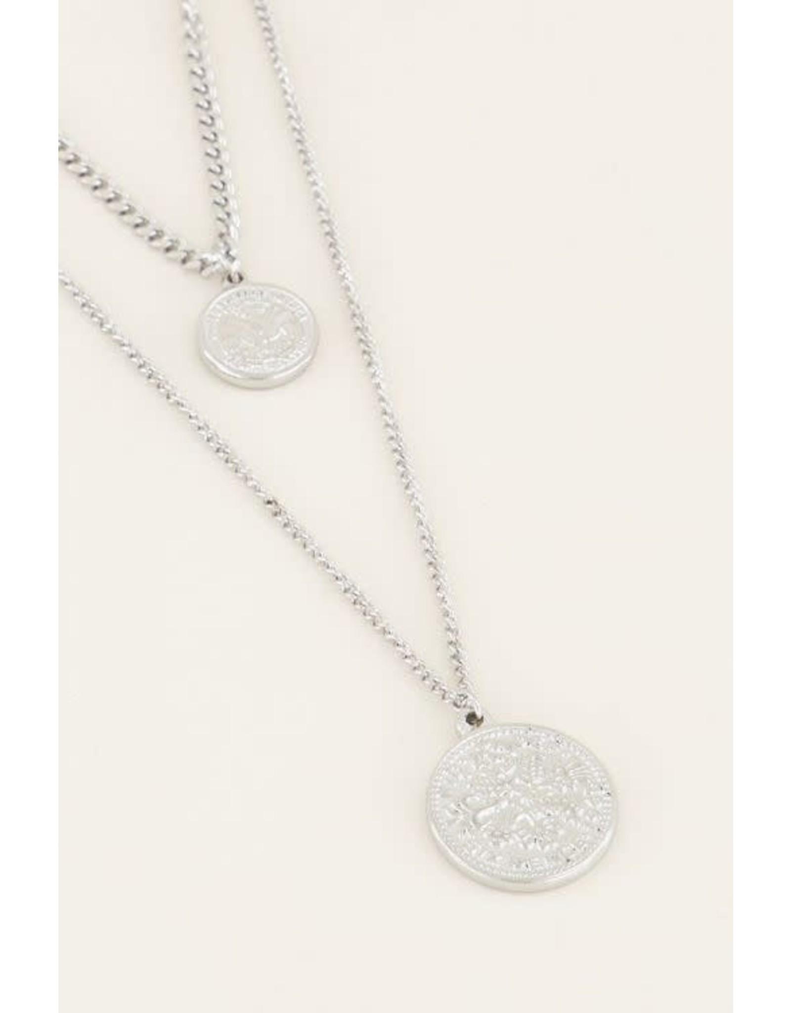 My Jewellery My Jewellery dubbele ketting munt
