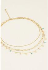 My Jewellery My Jewellery driedubbele ketting goud