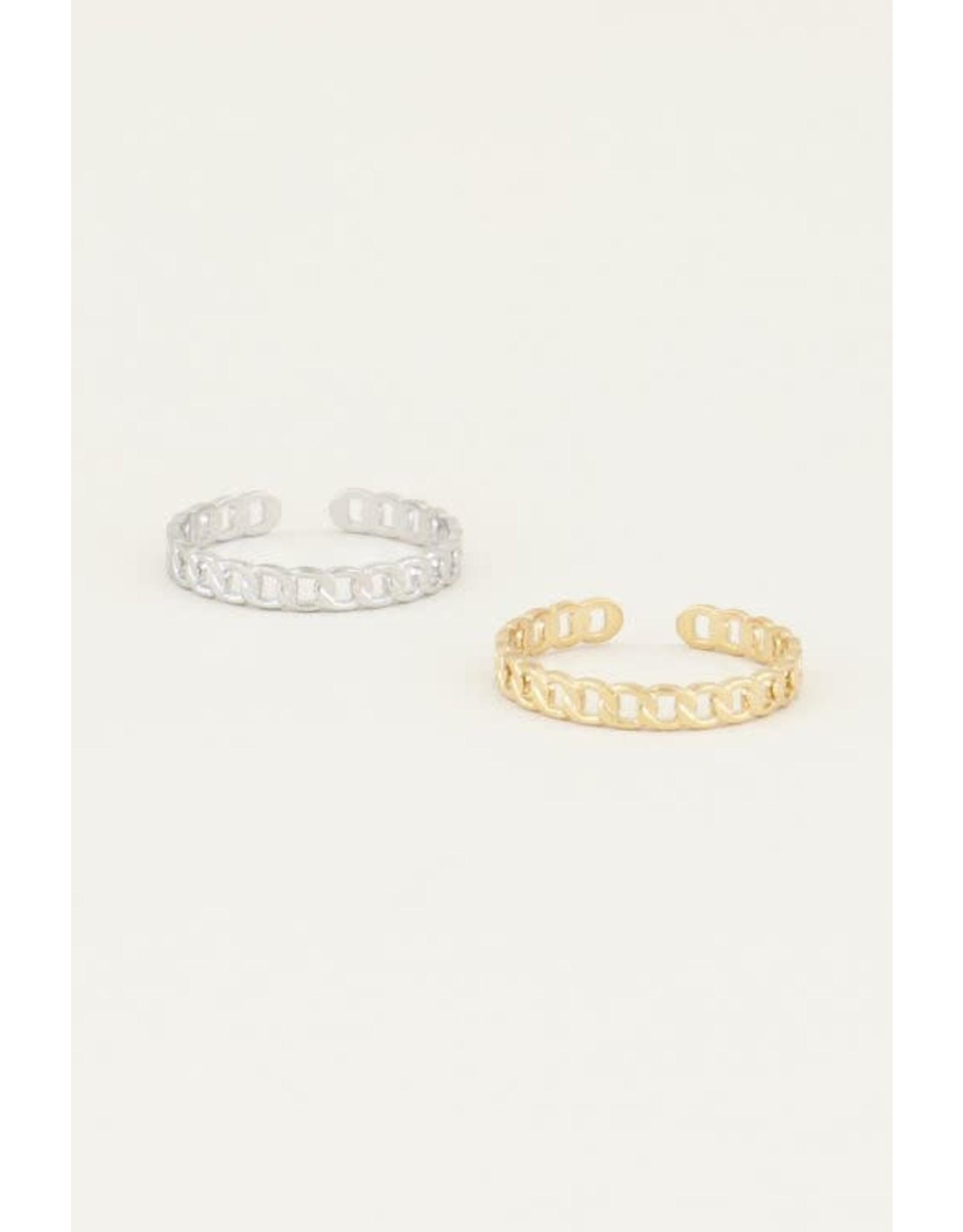 My Jewellery My Jewellery platte schakel ring