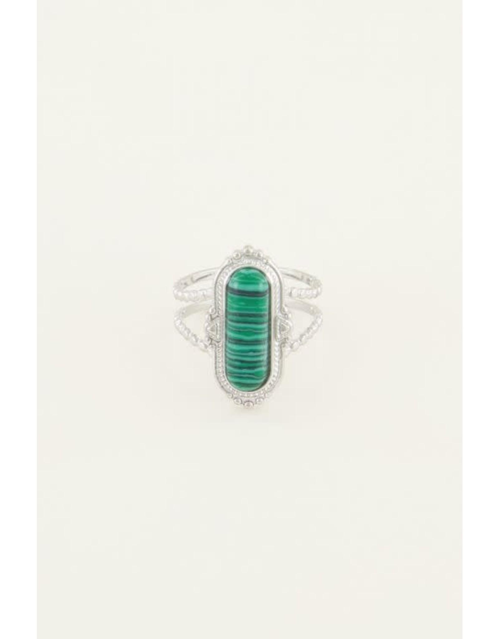 My Jewellery My Jewellery ring groene steen