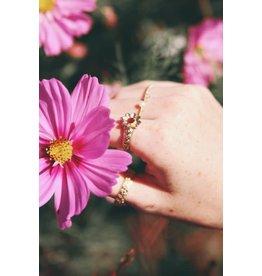 My Jewellery My Jewellery ring bloem en steentje