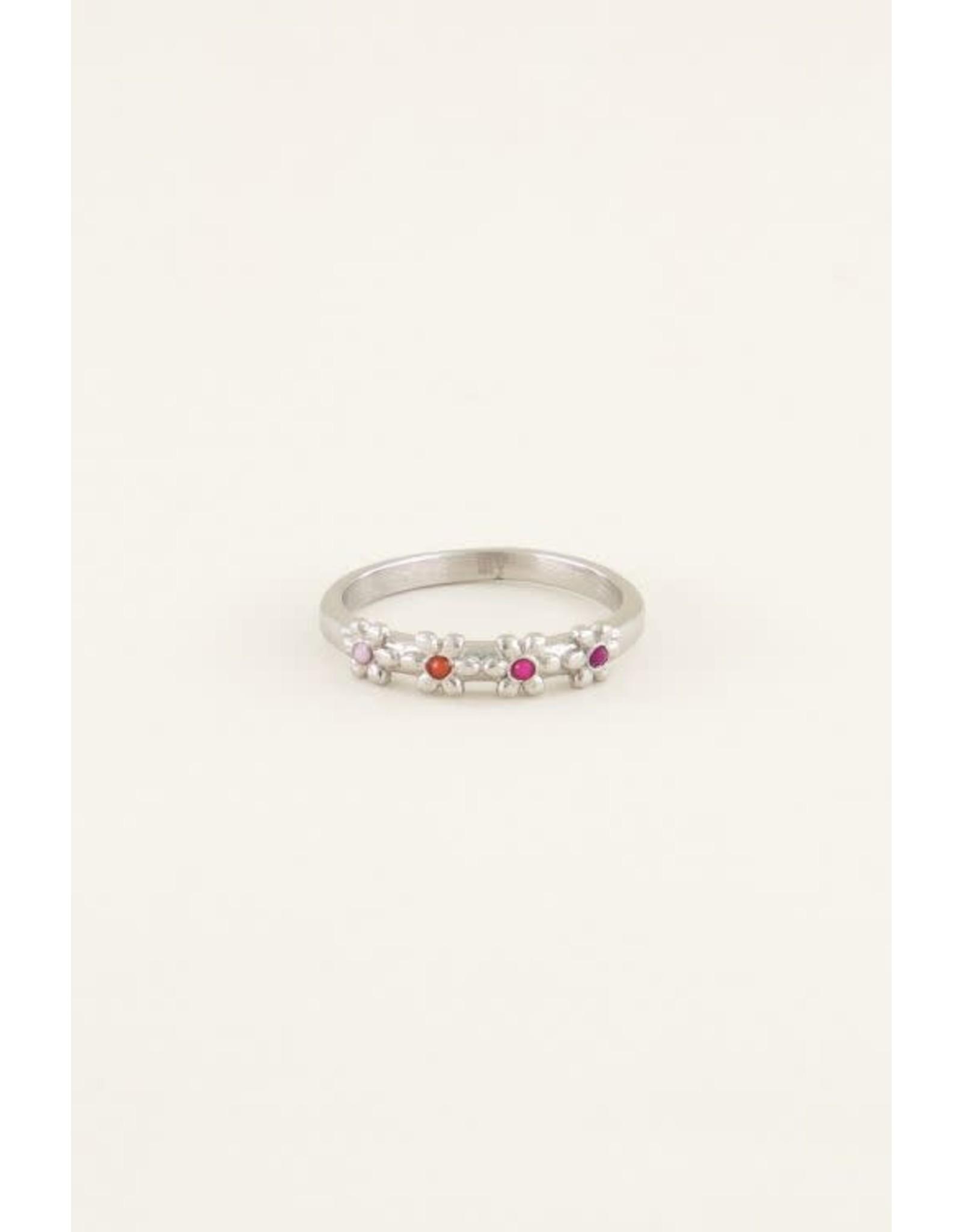 My Jewellery My Jewellery ring vier bloemetjes maat 16
