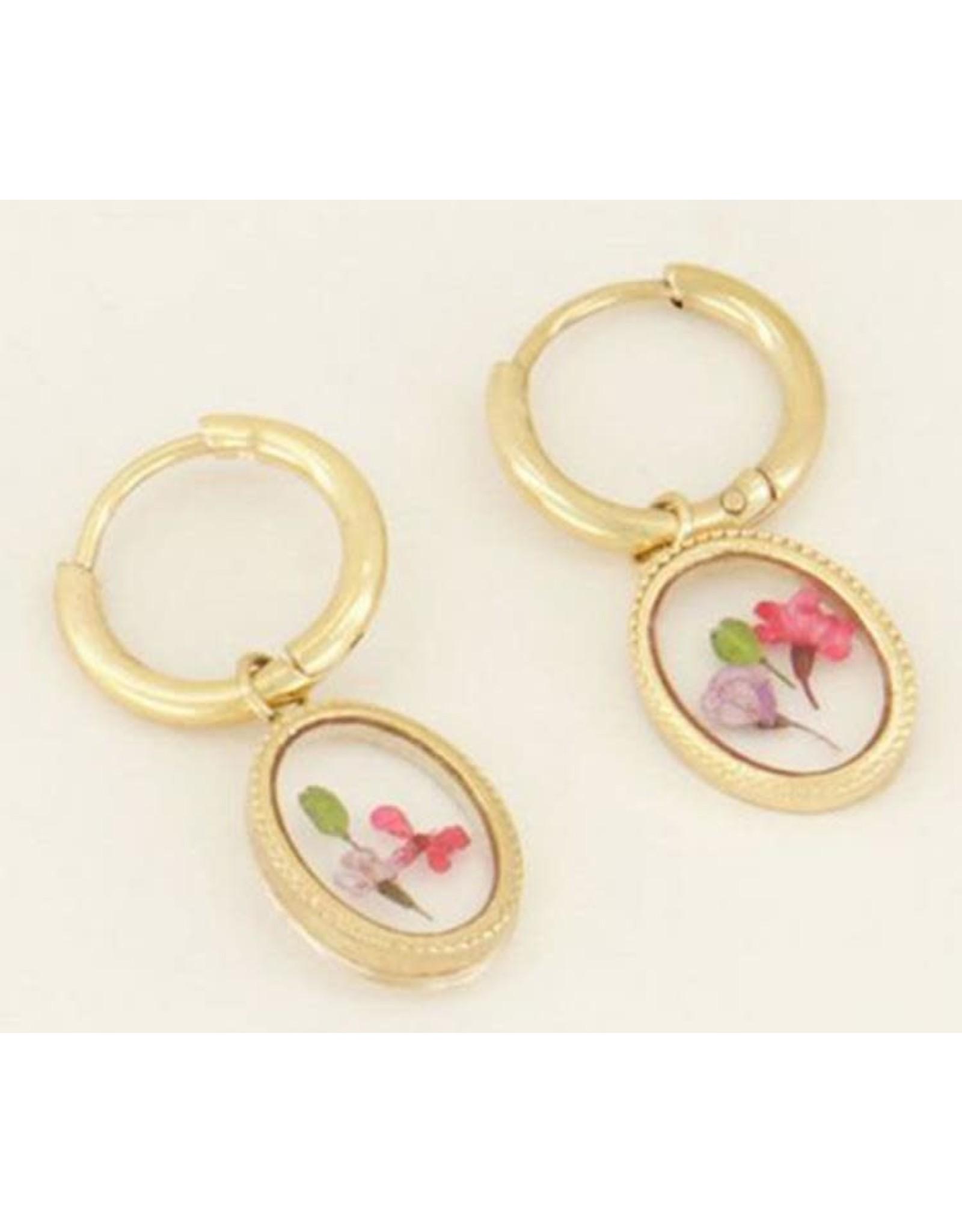 My Jewellery My Jewellery oorbellen - droogbloemen
