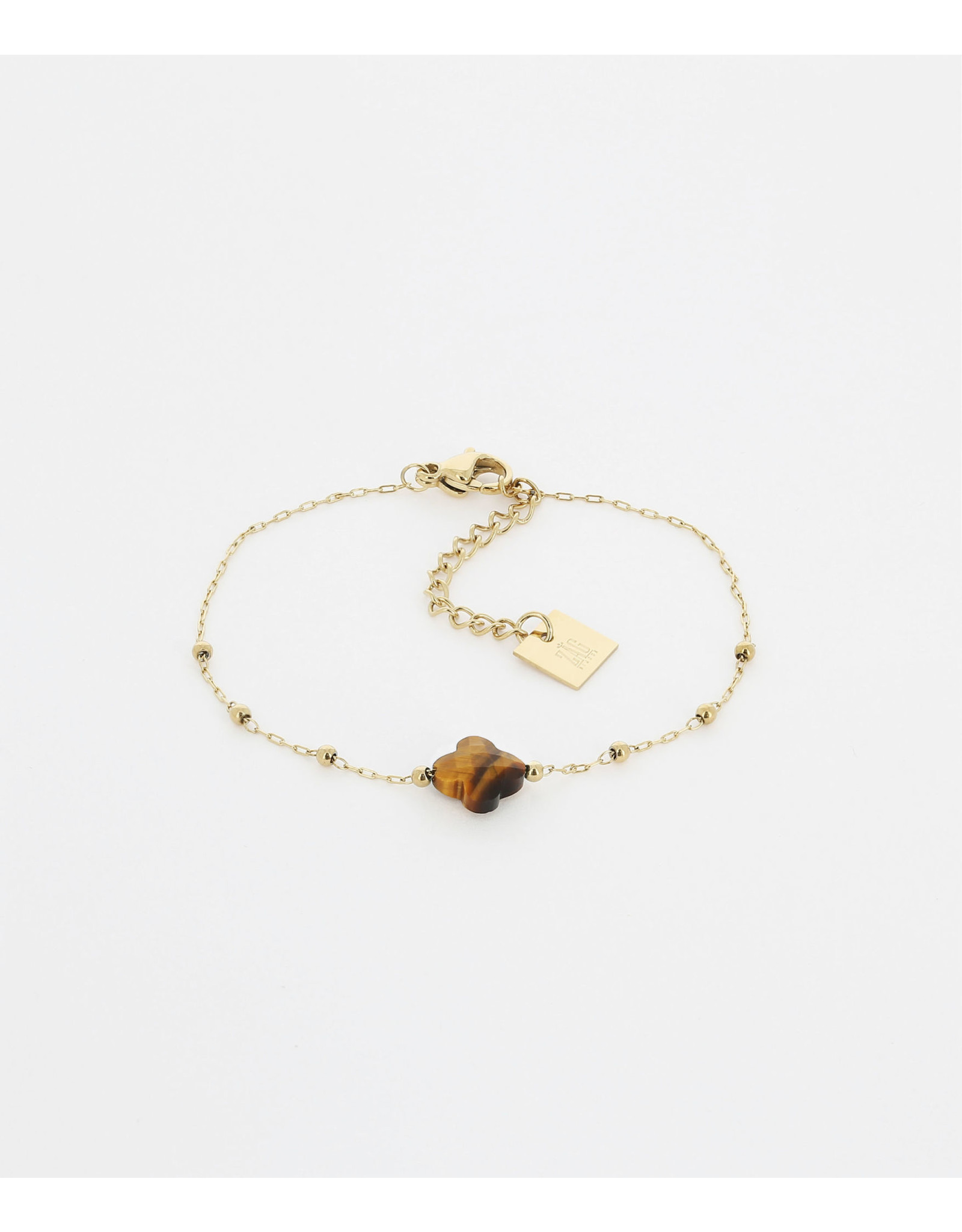 Zag Bijoux ZAG armband goud klaver