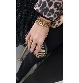 Zag Bijoux ZAG armband kralen goud