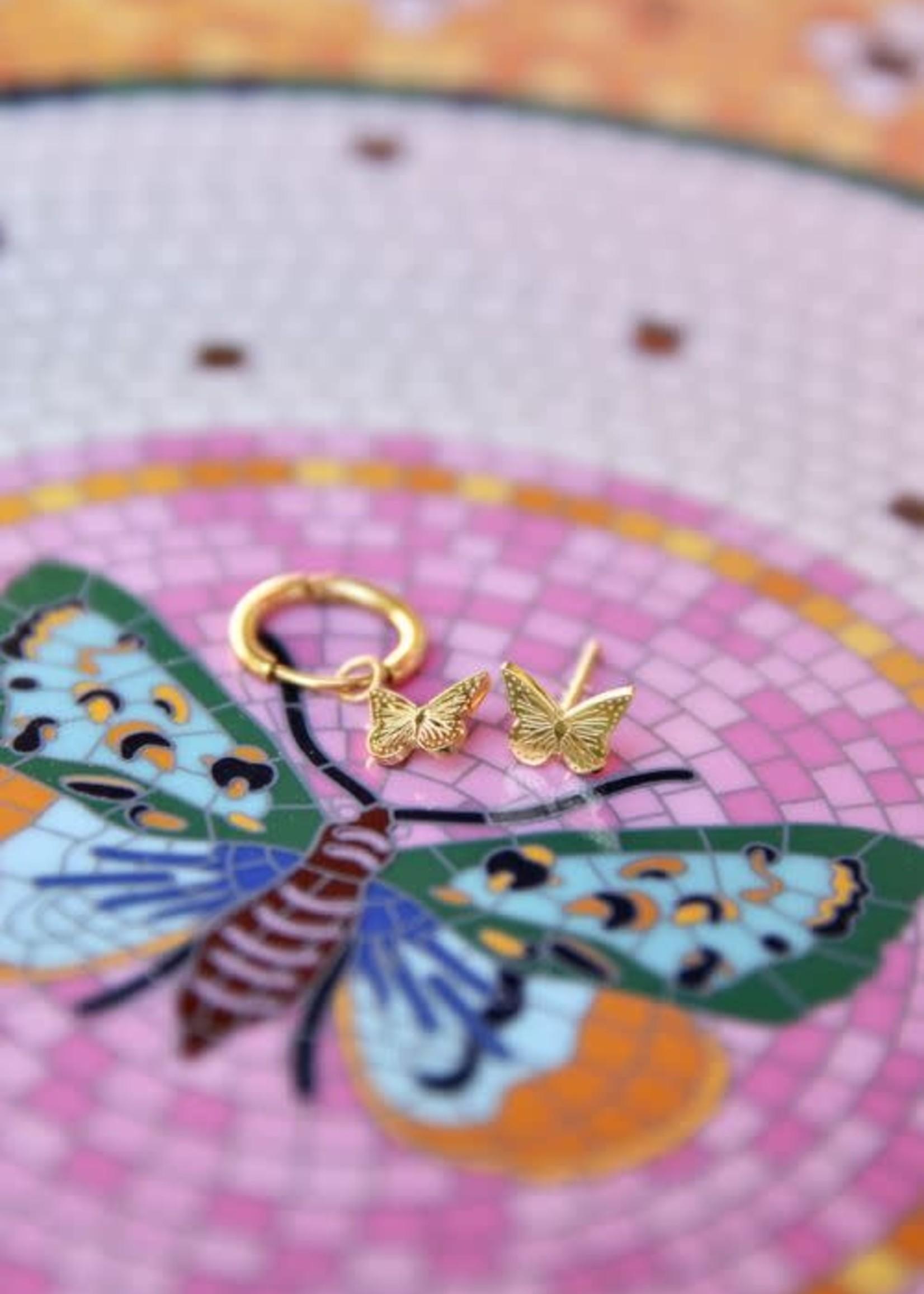 My Jewellery My Jewellery oorring vlindertjes goud