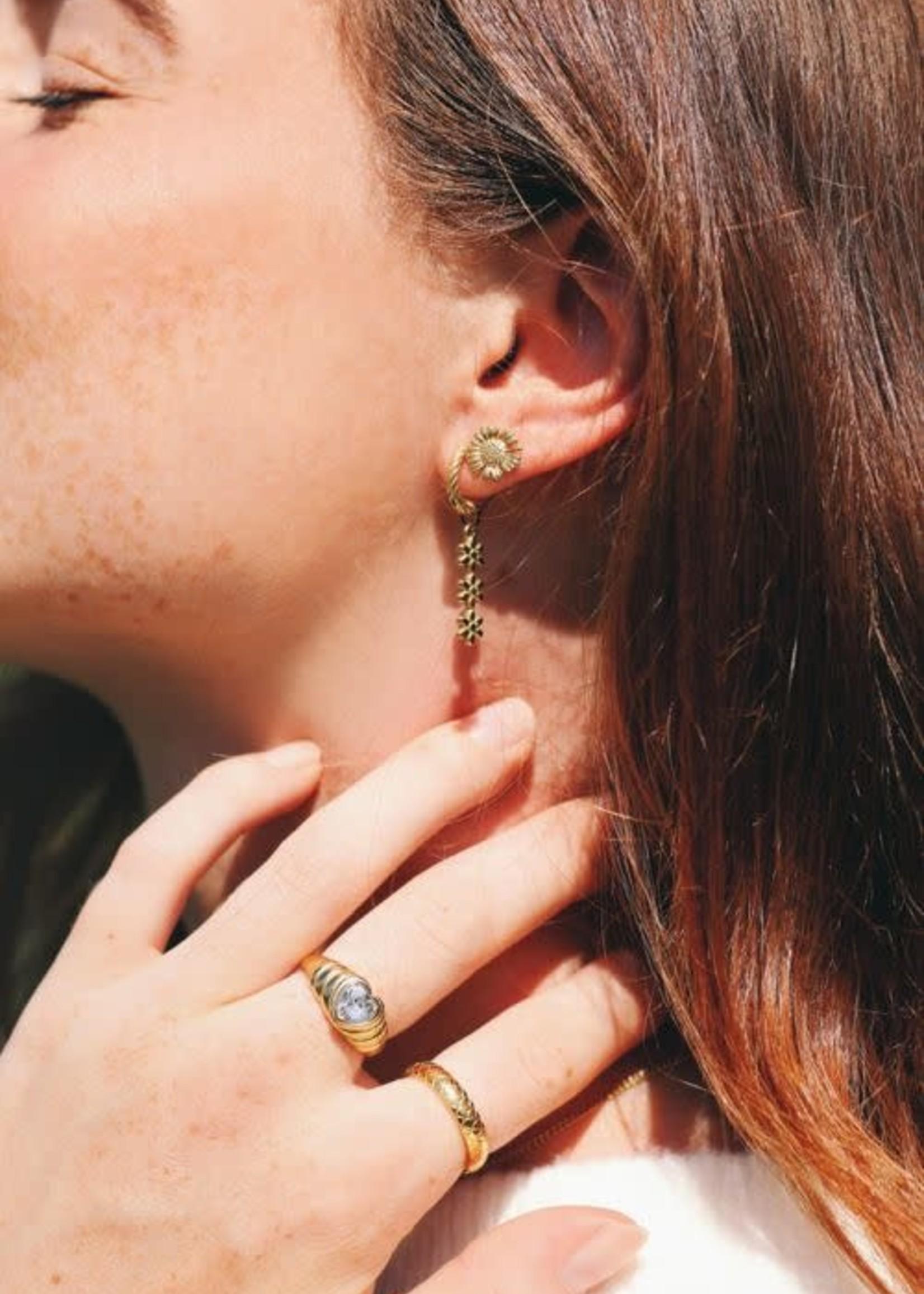 My Jewellery My Jewellery oorring drie bloemetjes