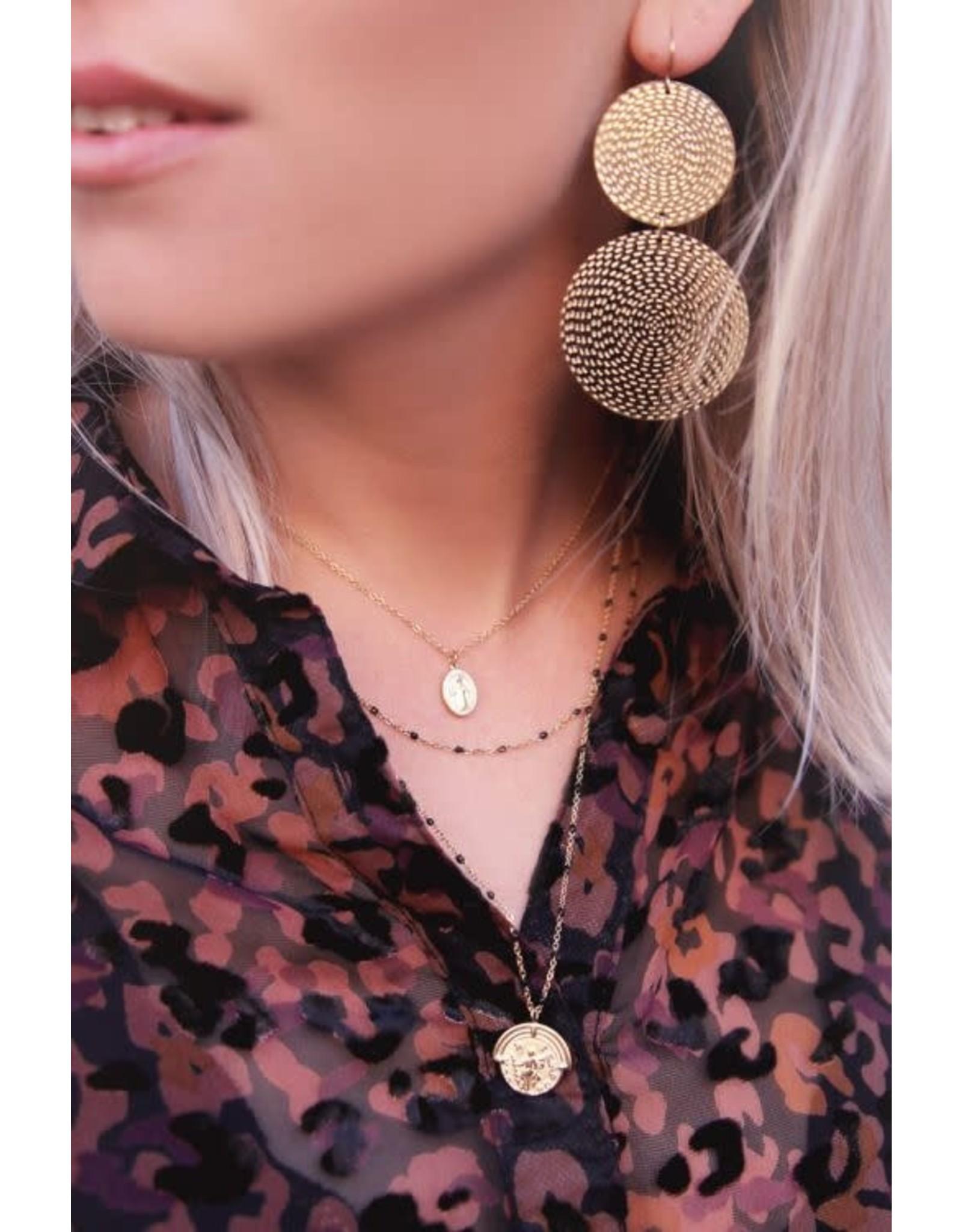 My Jewellery My Jewellery oorhangers geribbelde cirkels