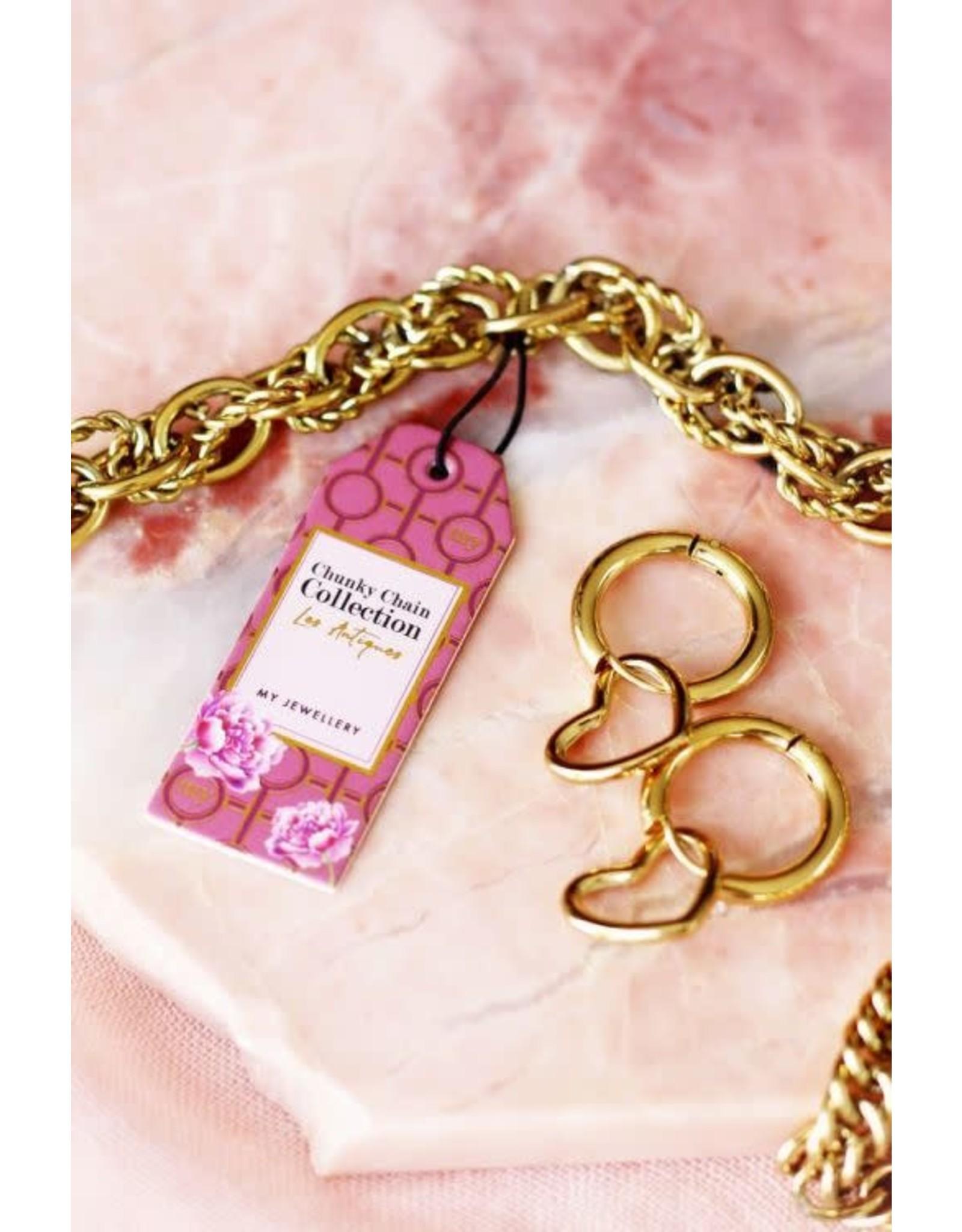 My Jewellery My Jewellery oorringen met open hartje