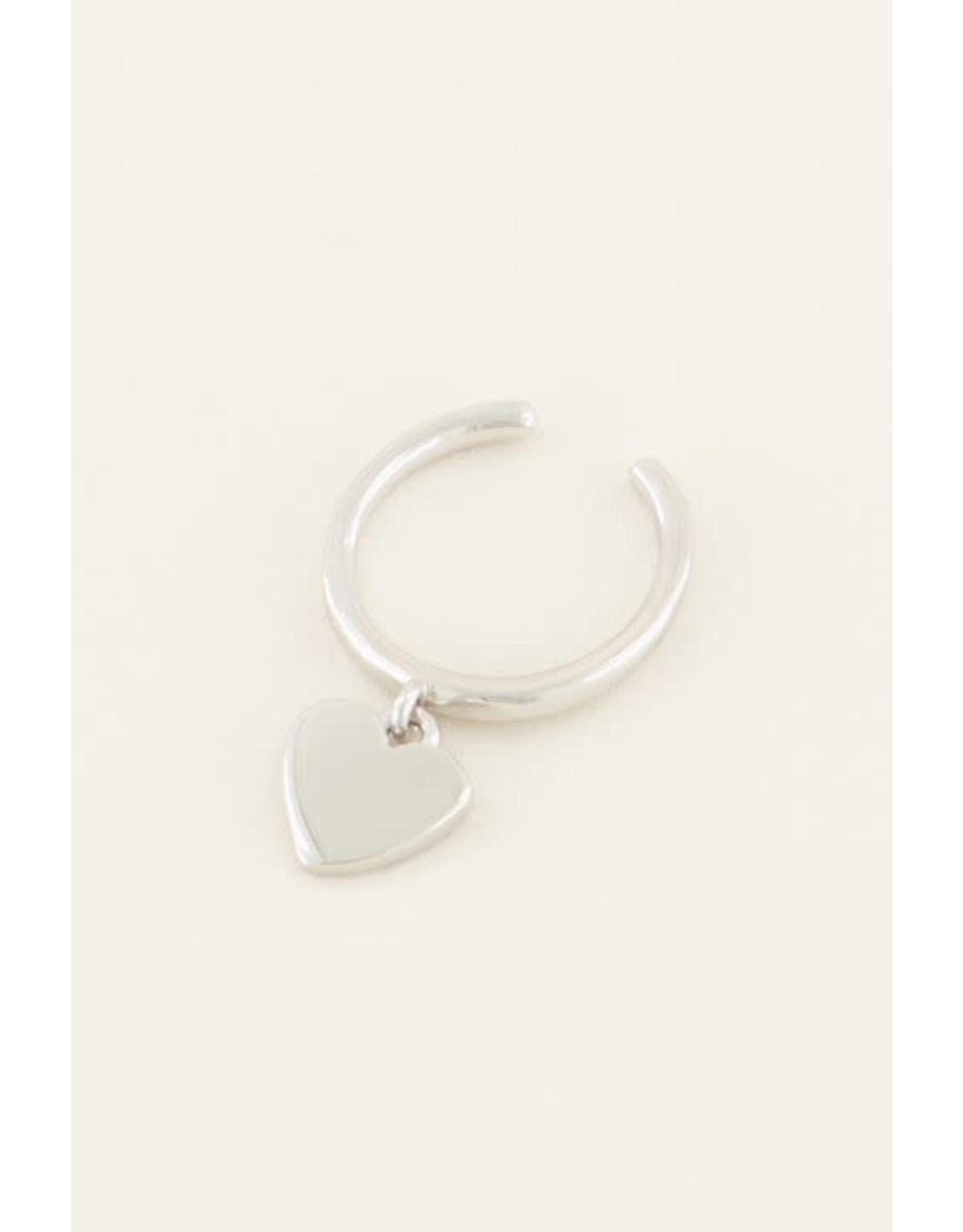 My Jewellery My Jewellery ear cuff hangend hartje