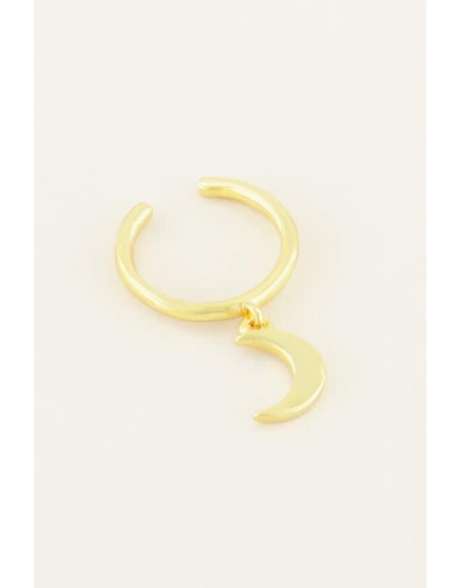 My Jewellery My Jewellery ear cuff hangend maantje