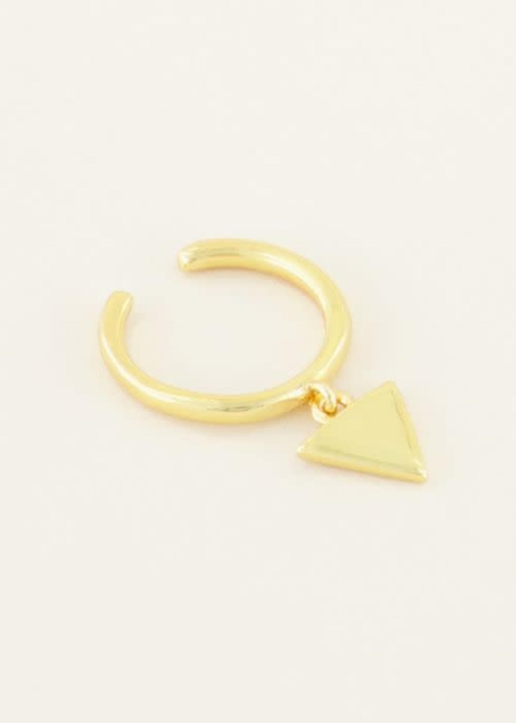 My Jewellery My Jewellery ear cuff hangend driehoekje