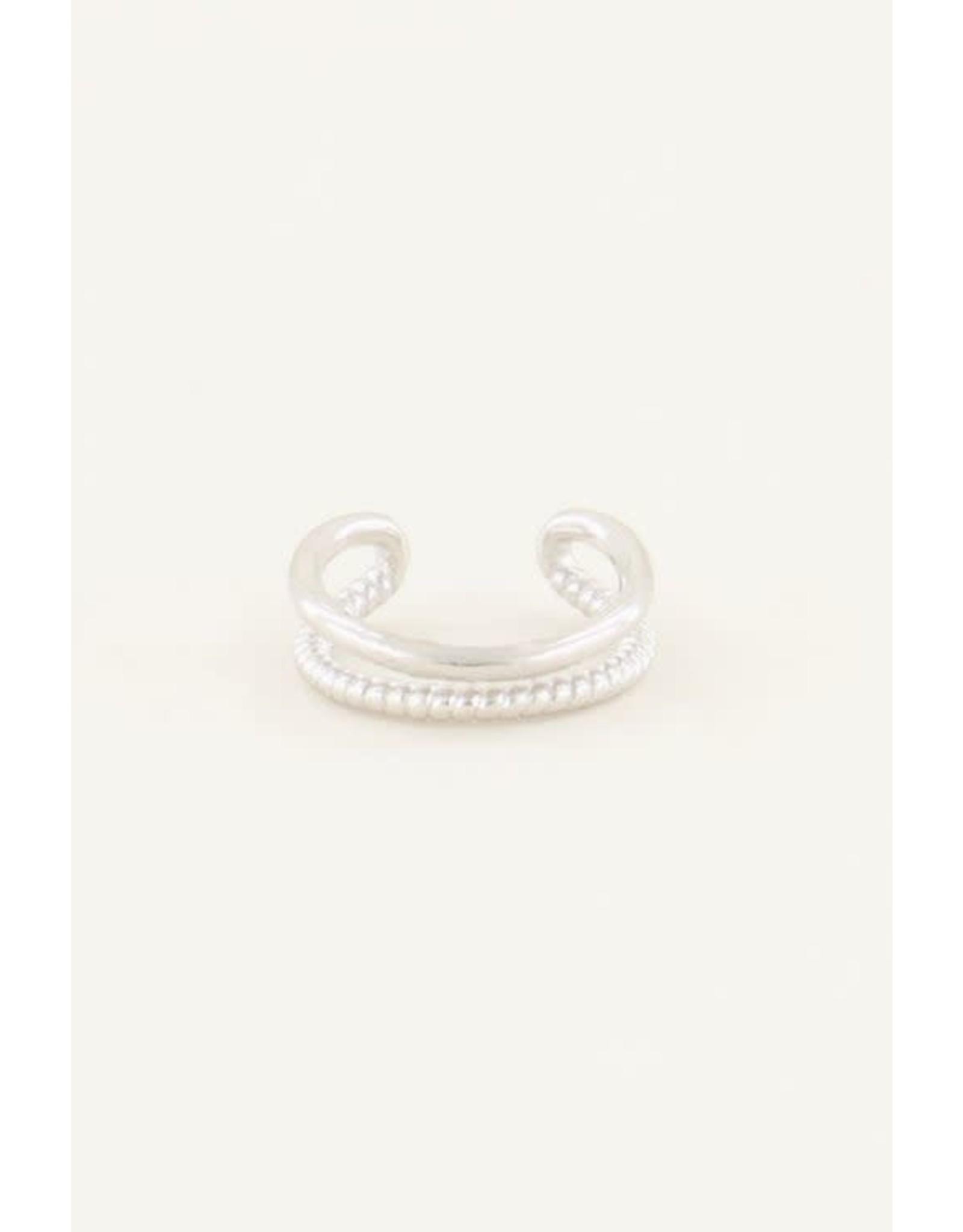 My Jewellery My Jewellery ear cuff twee ringetjes