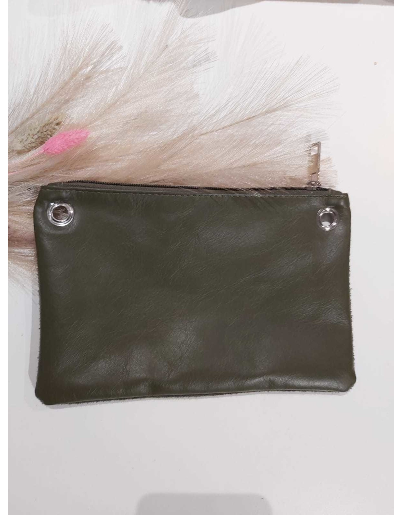 Carry 2 Care Carry 2 Care bag groen suede/leer