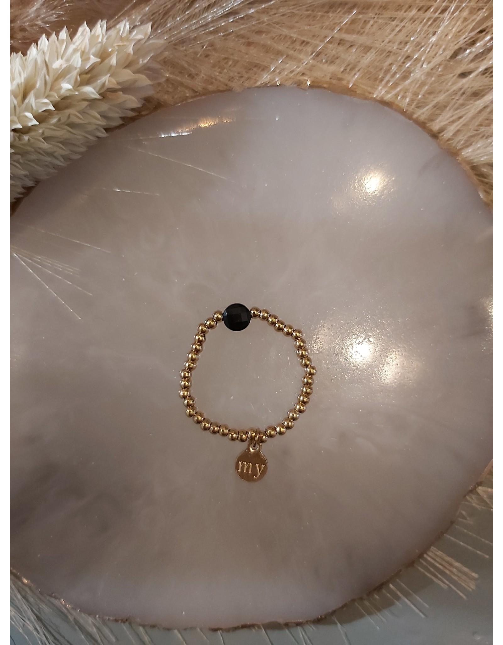 My Jewellery My Jewellery ringen Elastiek - Zwart