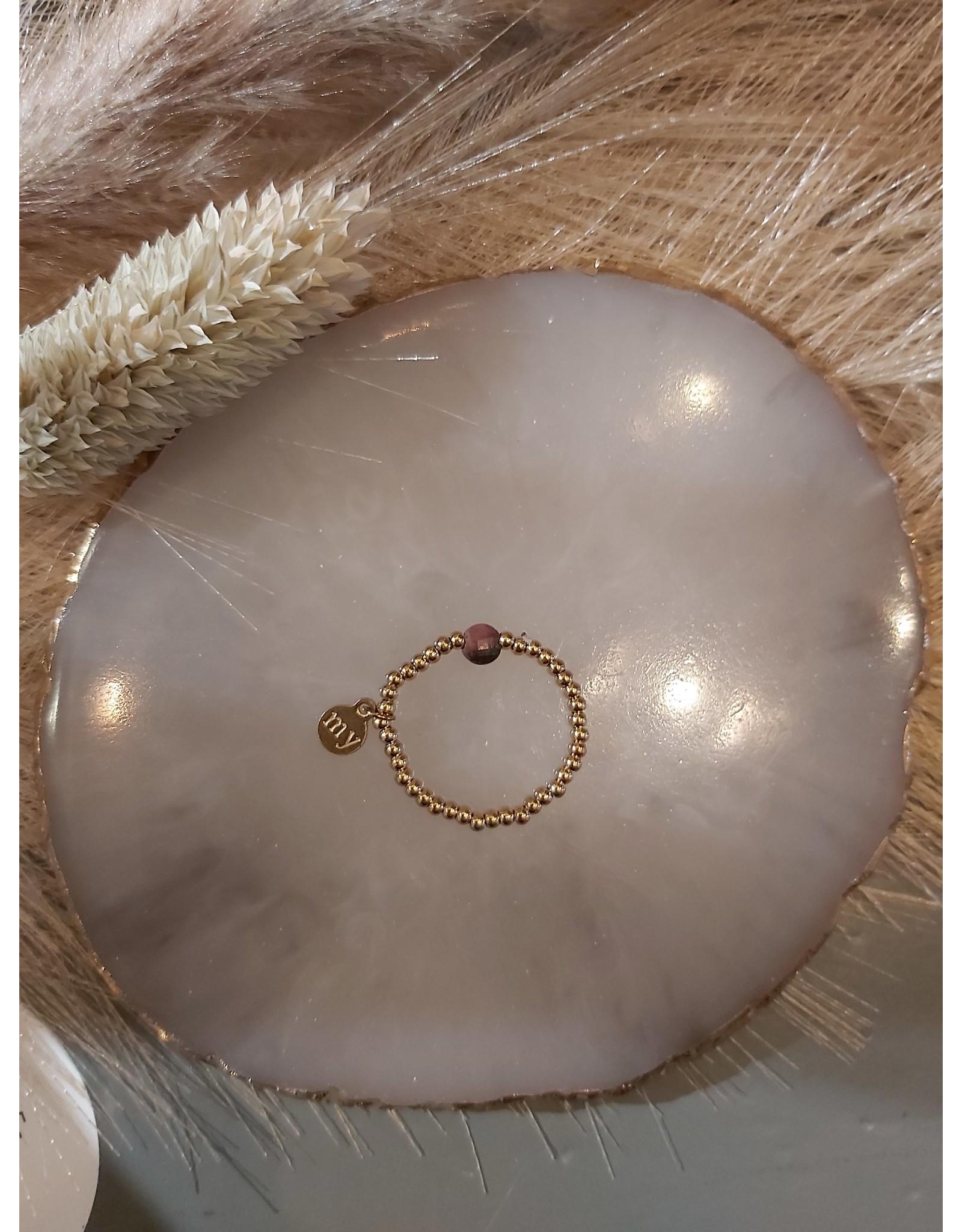 My Jewellery My Jewellery ringen Elastiek - Oud Roze