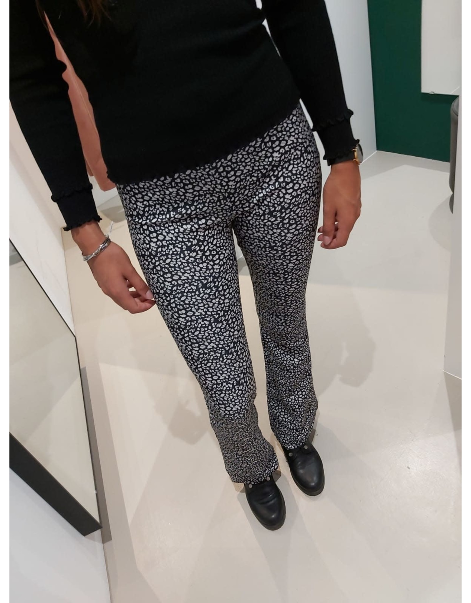 L'Avenue Flair Leopard zwart/wit