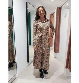 L'Avenue Leopard dress stretch maat S