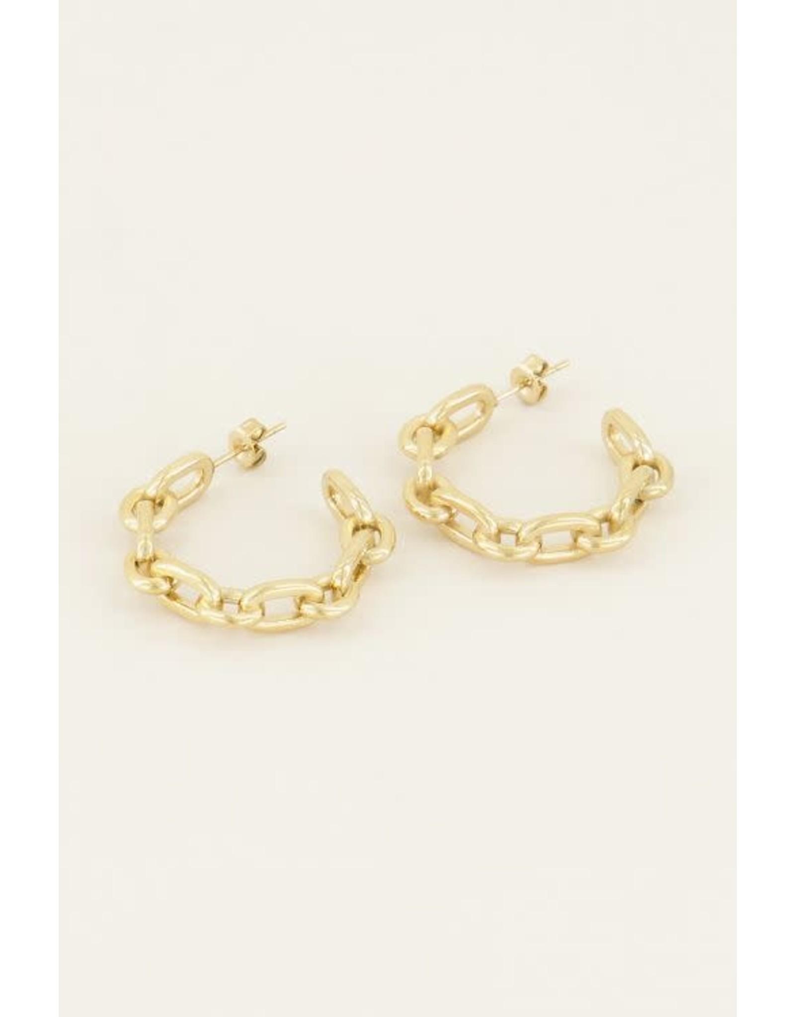 My Jewellery My Jewellery oorring grove schakel