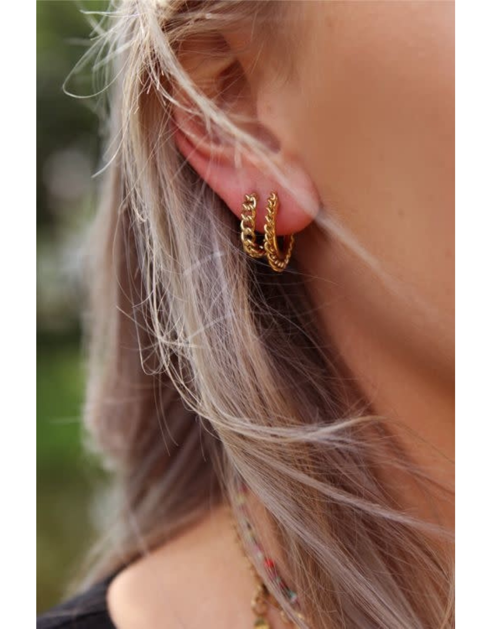 My Jewellery My Jewellery oorring platte schakels