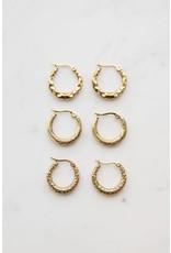 My Jewellery My Jewellery kleine oorringen met patroon