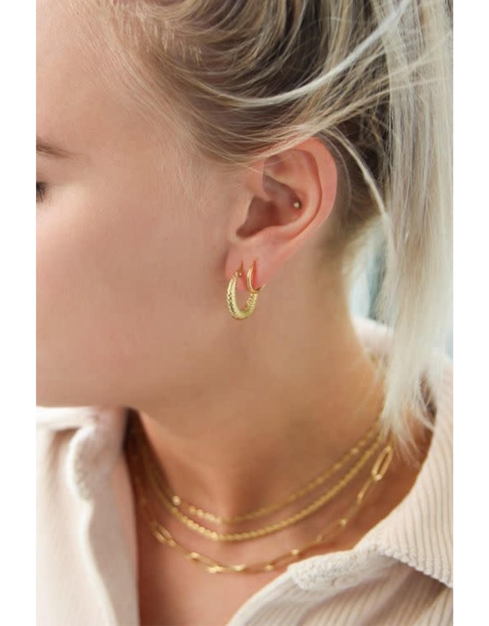 My Jewellery My Jewellery oorringen geruit patroon